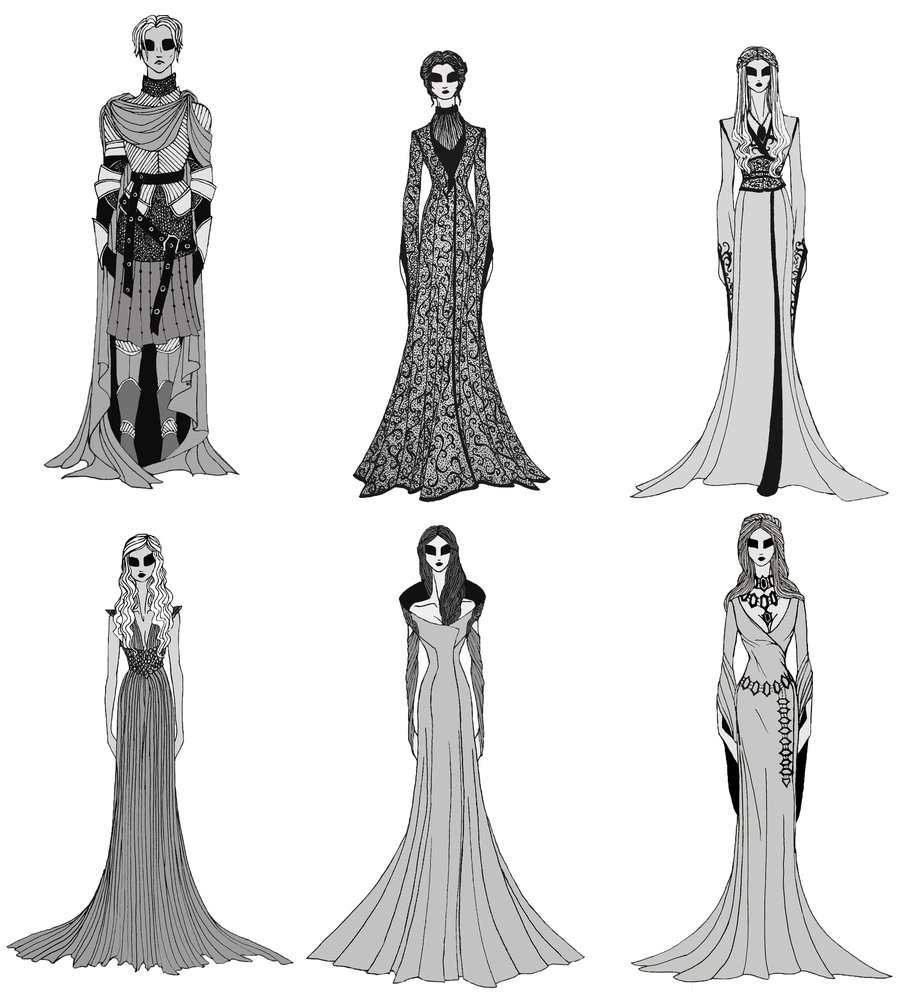 Drawn costume Thrones and Fan These Sketches