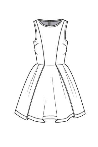Drawn costume frock The Pinterest ideas Dress illustration