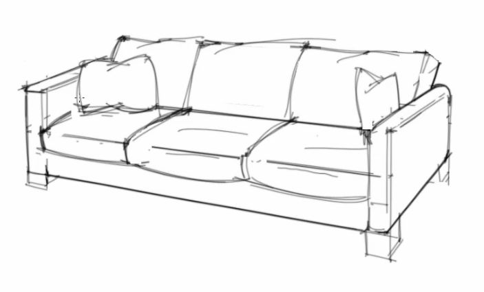 Drawn sofa couch Reference a How to sofa