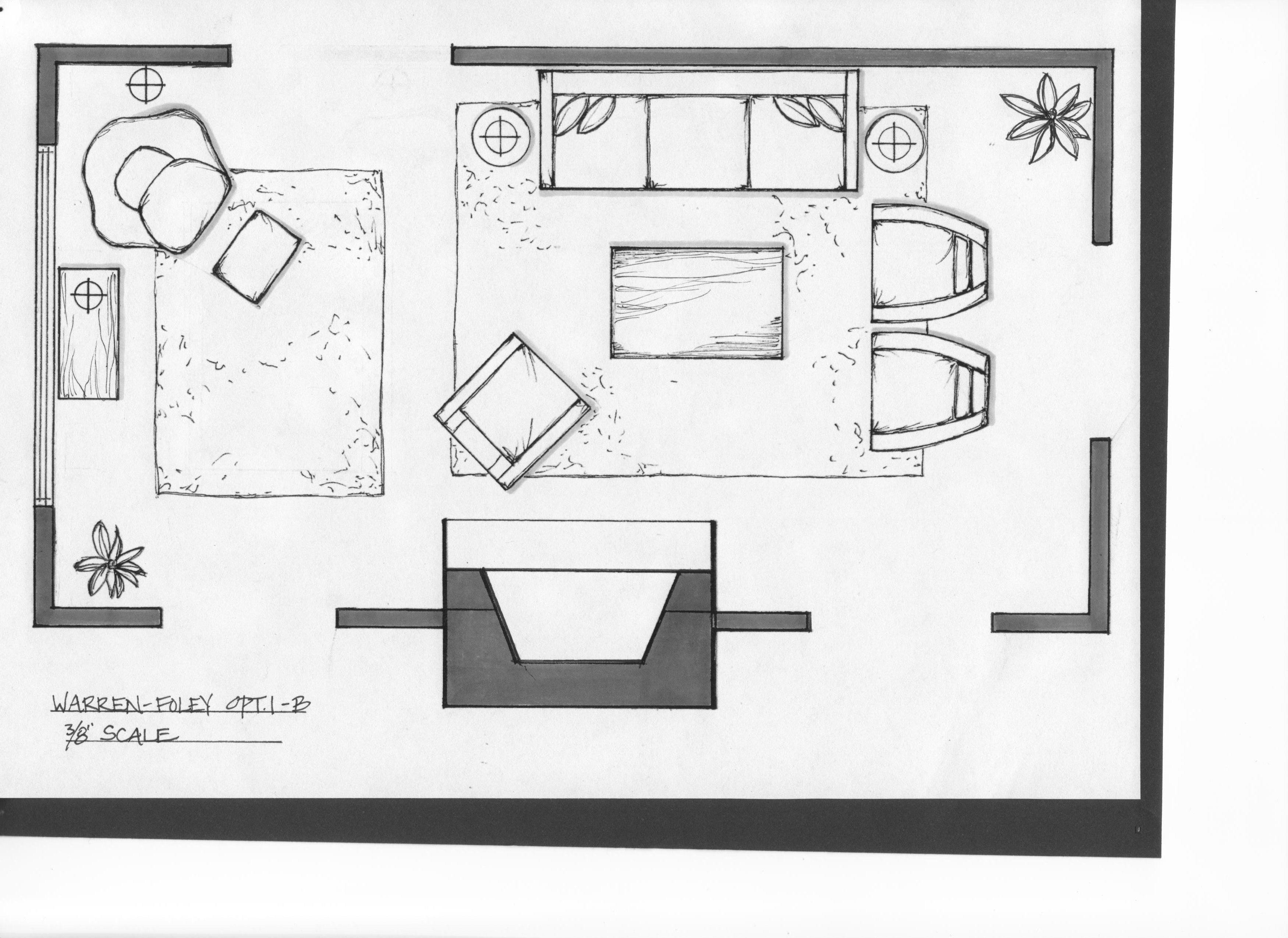 Drawn bedroom sketch plan Luxury Interior Plan To Draw