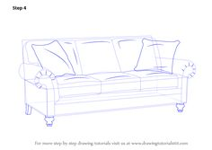 Drawn sofa couch Classes (Furniture) to Draw Step