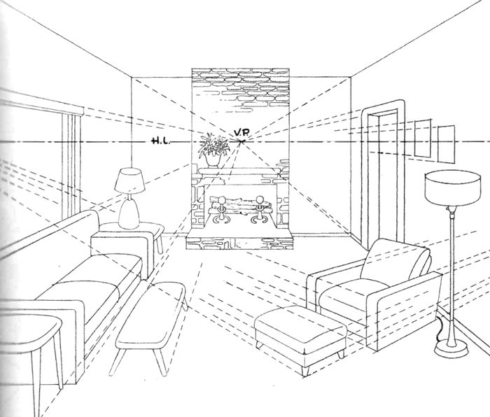 Drawn room line drawing Ideas Coffee Ottoman drawing with