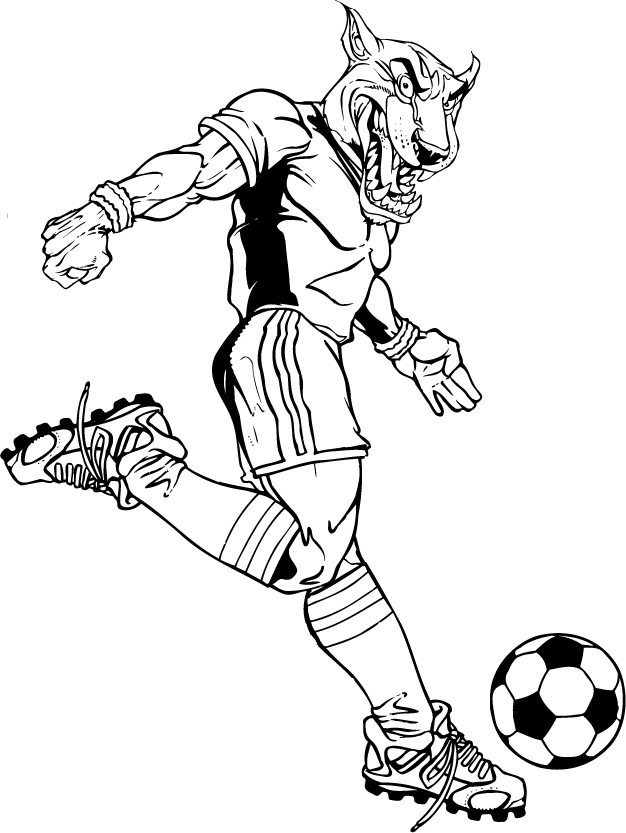 Soccer clipart cougar  Mascot / Decals Sticker