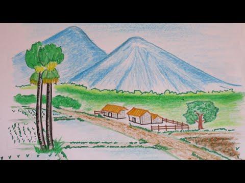Drawn countyside Mountain How YouTube mountain to