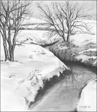 Drawn snow graphite Pencil images 597 Graphite Drawings