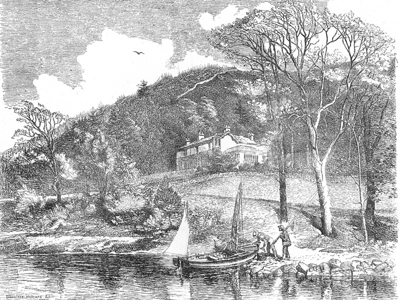 Drawn countyside forest house L Martin Travel by John