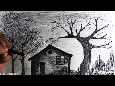 Drawn scenic creative Forest a house YouTube step