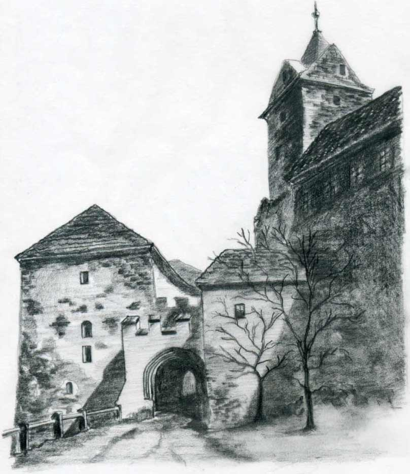Drawn scenery castle Fun Castle Drawings  For