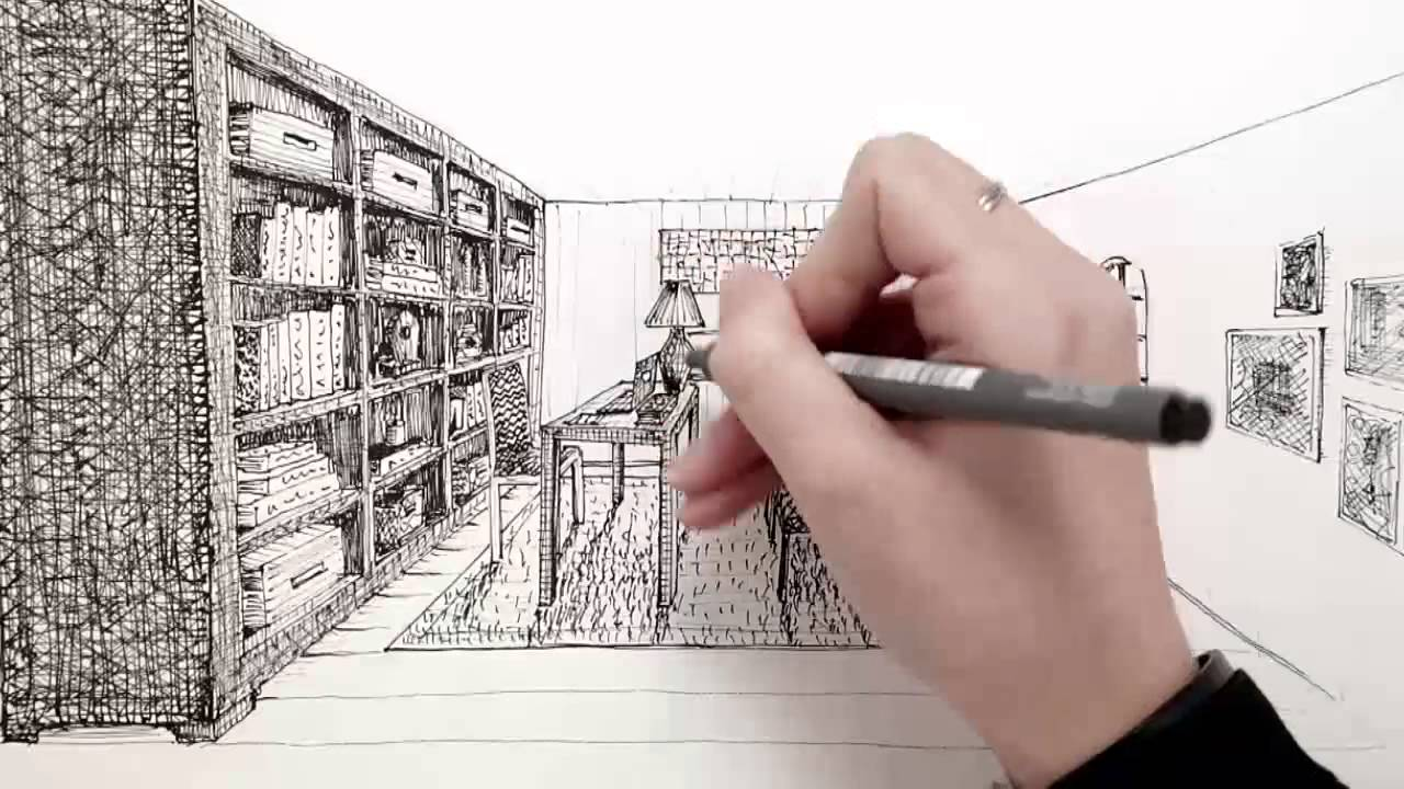 Drawn course Interior YouTube Design Hand Drawing