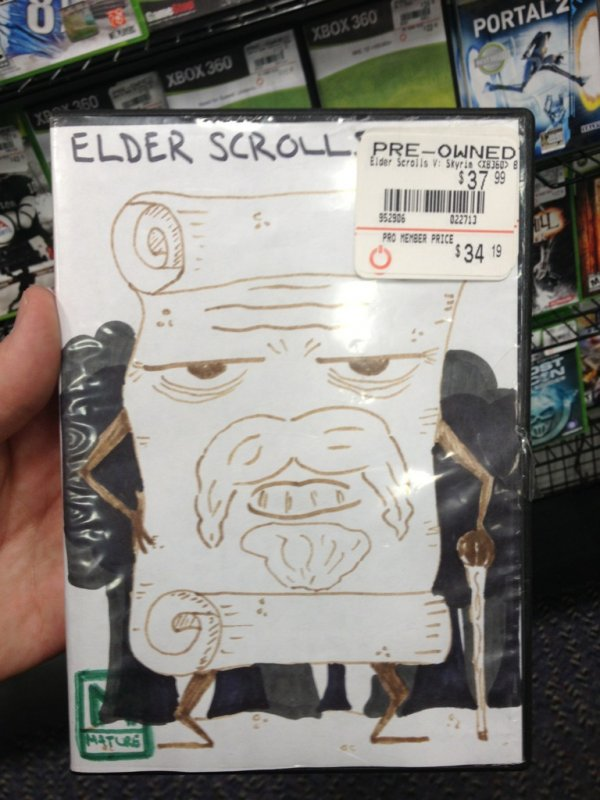 Drawn cover Cover Game Scrolls Post Elder