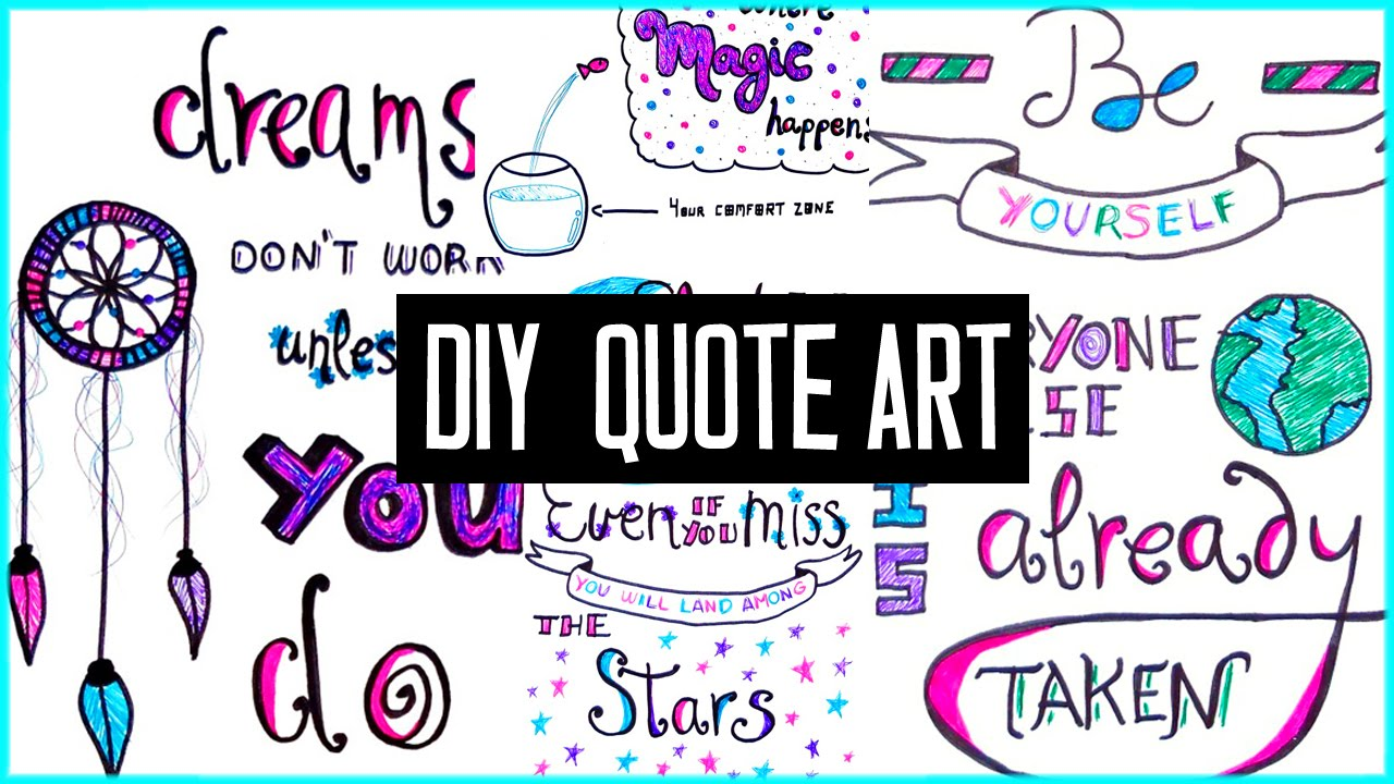 Drawn quote artist Art motivational school! back inspired