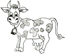 Drawn cow / Drawing to Drawing How