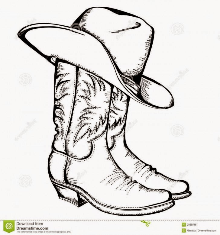 Drawn cowboy Drawing Cowboy Cowboy Shoe Hd
