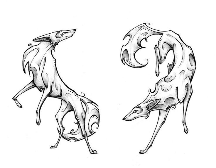 Drawn coyote #14