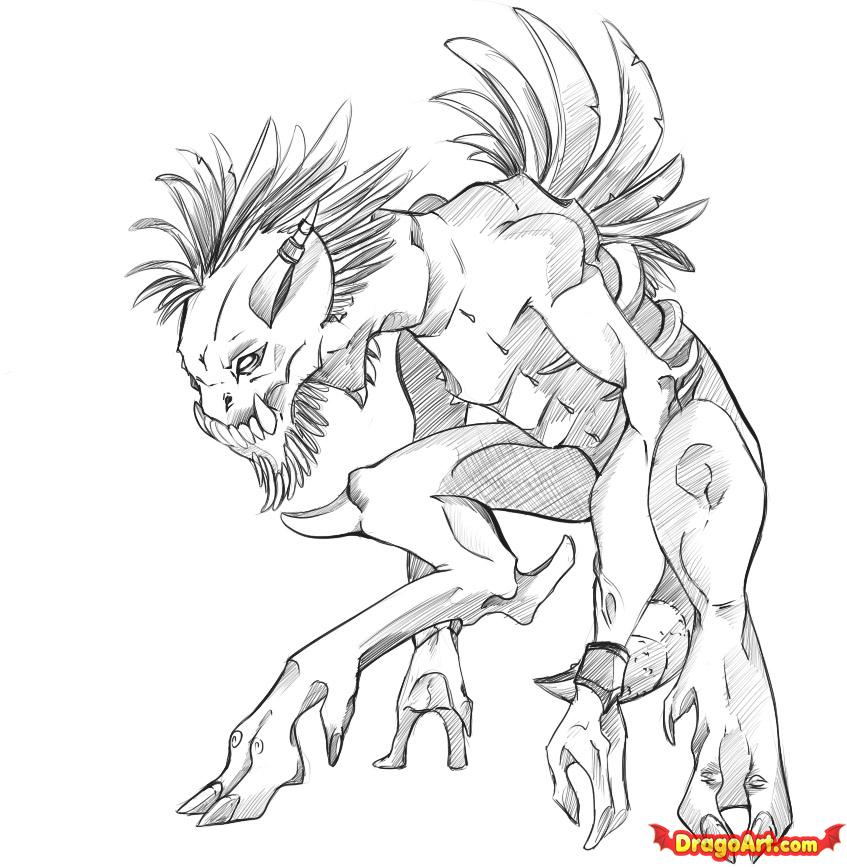Drawn creature #1
