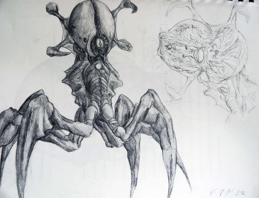 Drawn creature On TopHatTruffles Concept (hand 2
