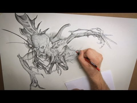 Drawn creature  PREVIEW Drawing Stan Techniques