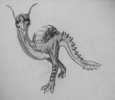 Drawn creature #6