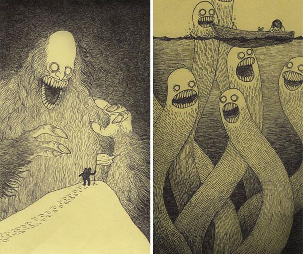 Drawn lightning creepy #12
