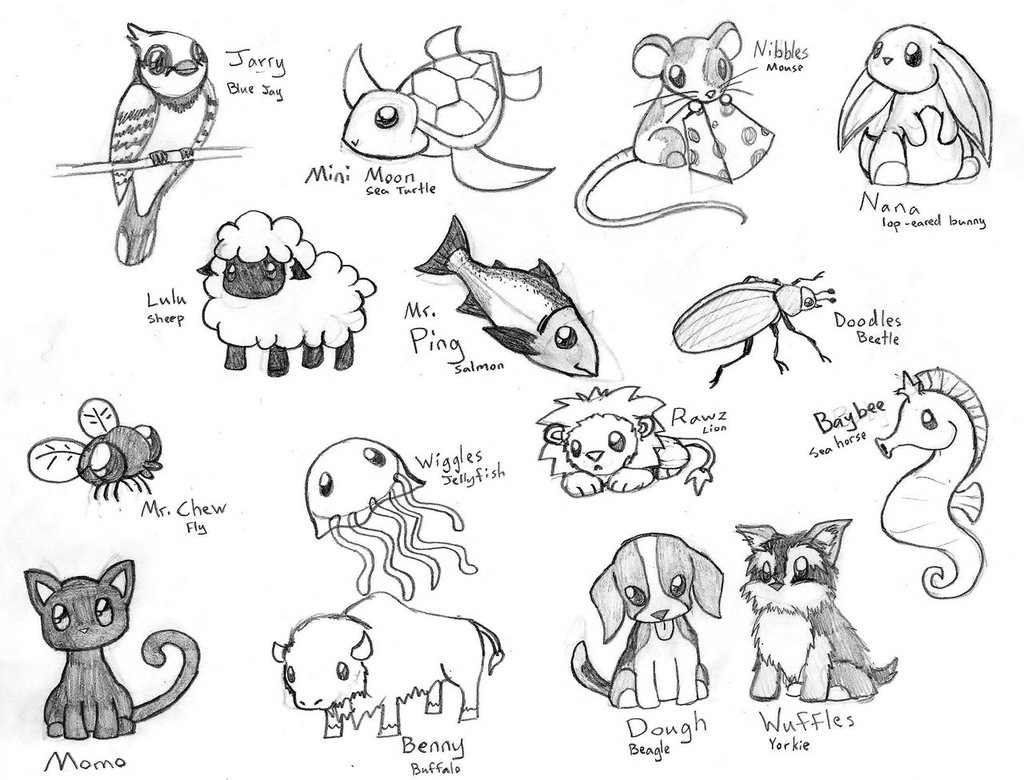 Drawn rodent chibi 3 by ~CrimsonAngelofShadow by Cute