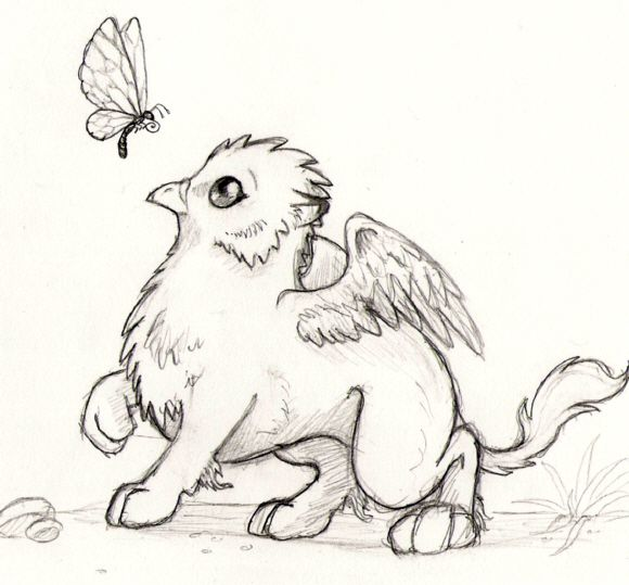Drawn griffon magical creature Mythical best on images creature