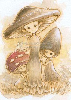 Drawn mushroom As Do Mythical creatures I