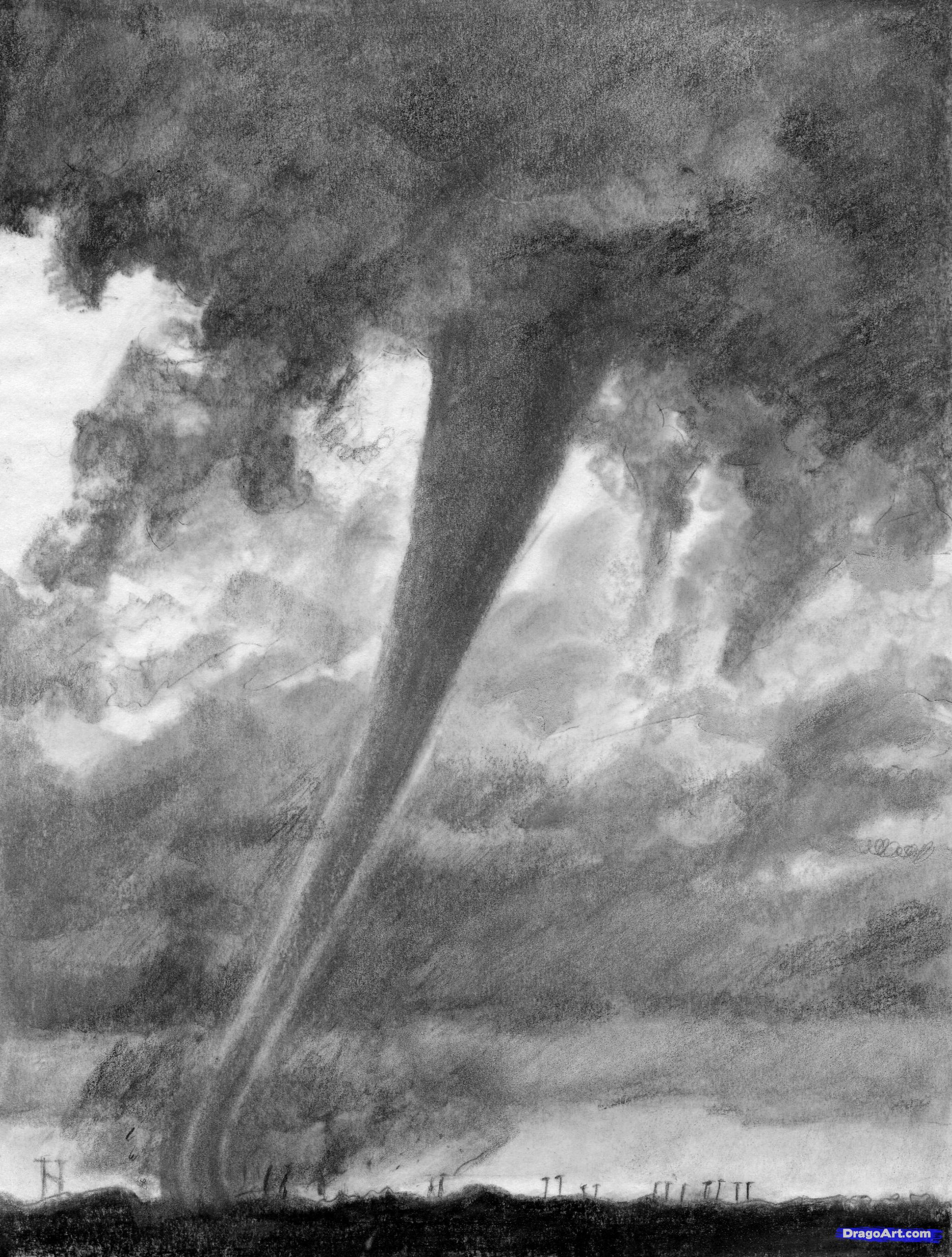Drawn rain black and white Tornado+Coloring+Pages how  draw draw