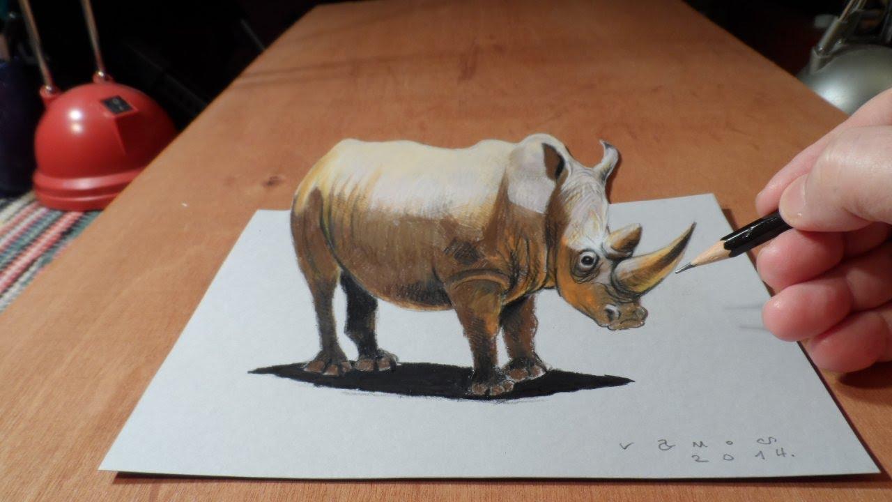 Drawn 3d art vamos Rhinoceros  Art a Drawing