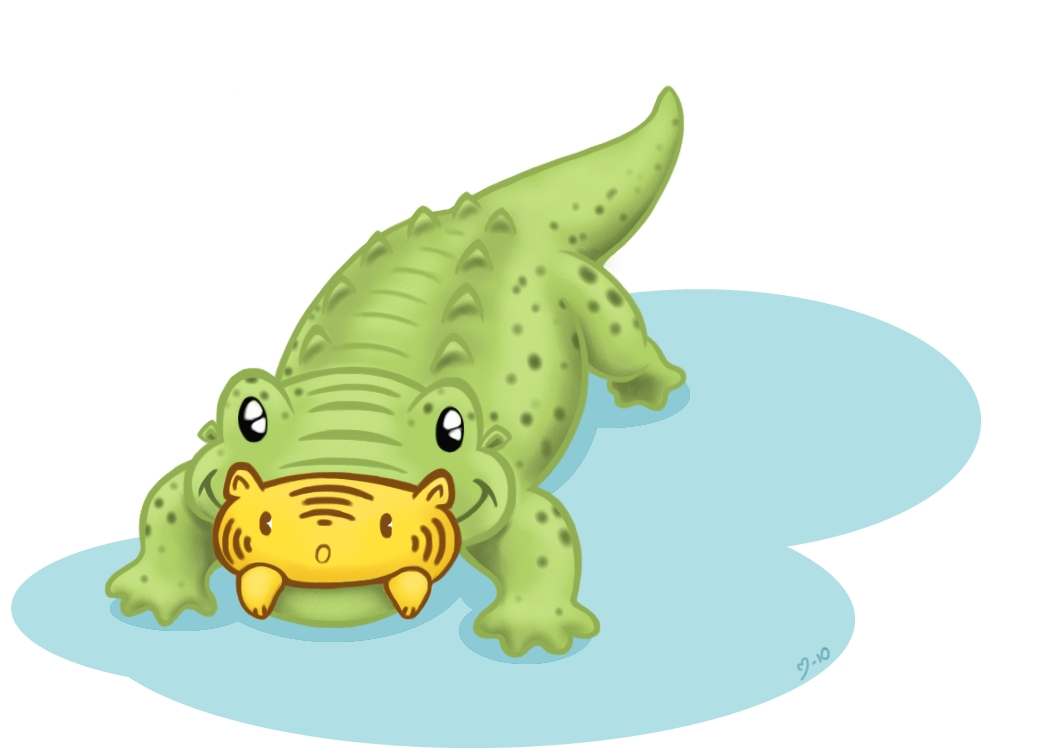 Crocodile clipart chibi On demiveemon Chibi by by