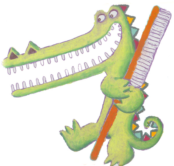 Alligator clipart brushing tooth Vrombaut of everyone plan will