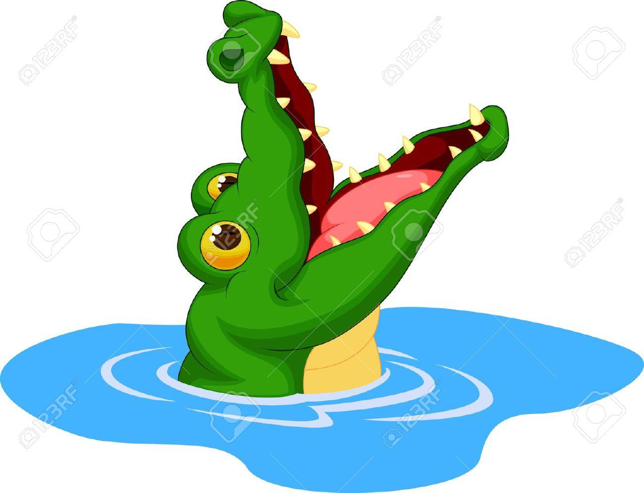 Alligator clipart fish Crocodylia cartoon 294 Vector Crocodile