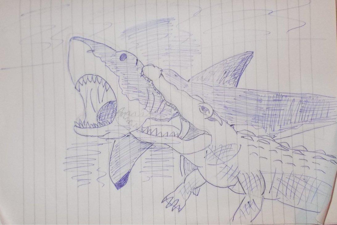 Drawn shark crocodile DeviantArt Croc WDGHK on Shark