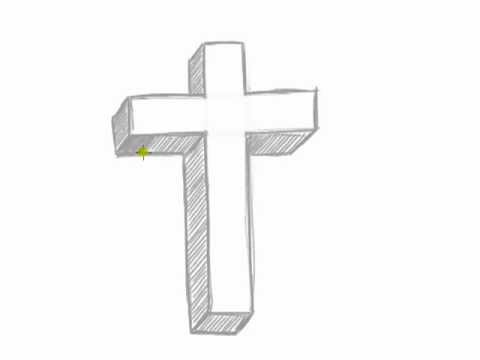 Drawn cross In How to Draw 3D