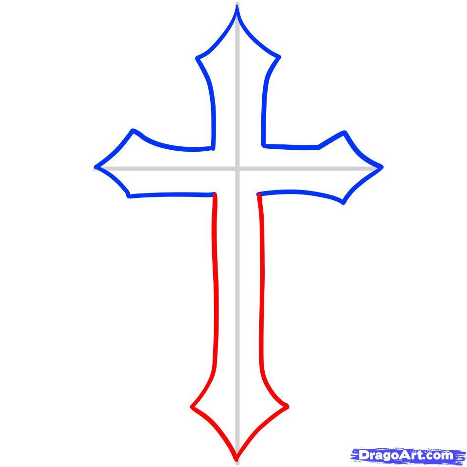 Drawn cross Cross  draw cross step