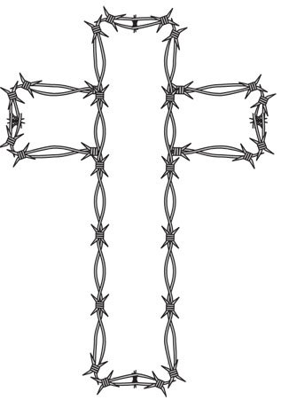 Barb Wire clipart black and white Clipart Kathy And 317x451 White