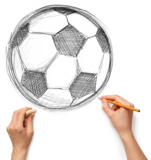 Drawn football amercian Pencil Beginners techniques Pencil for
