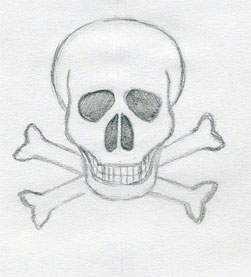 Drawn skull fun Cross and Drawings Skull Interesting