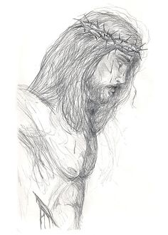 Drawn spirit guardian CROSS JESUS Tattoo Temporary pencil+drawings+of+jesus++at+the+cross