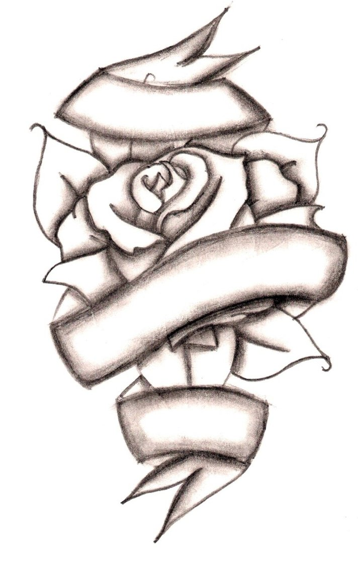 Drawn ribbon rose ribbon Rose RIBBONS Clip  With