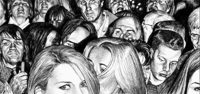 Drawn crowd B Clemons Art Artwork by