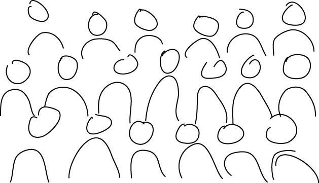 Drawn crowd The Thinkubator crowd (2) Visual