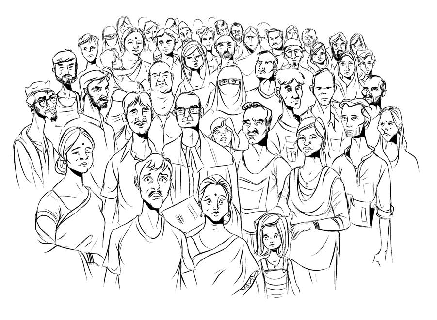 Drawn crowd By STUDIO akantis: CROWD Drawn