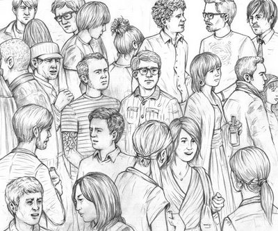 Drawn crowd On Pinterest 87 Outdoor Sketches