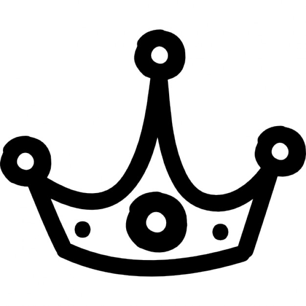 Drawn crown Hand Download hand Free Icons