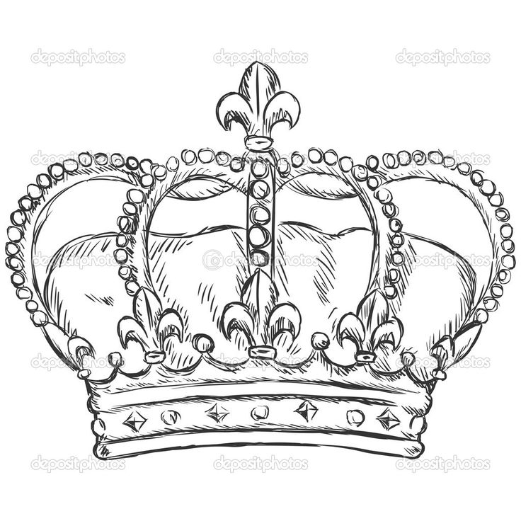 Drawn crown Vector ideas (1024× drawing Crown