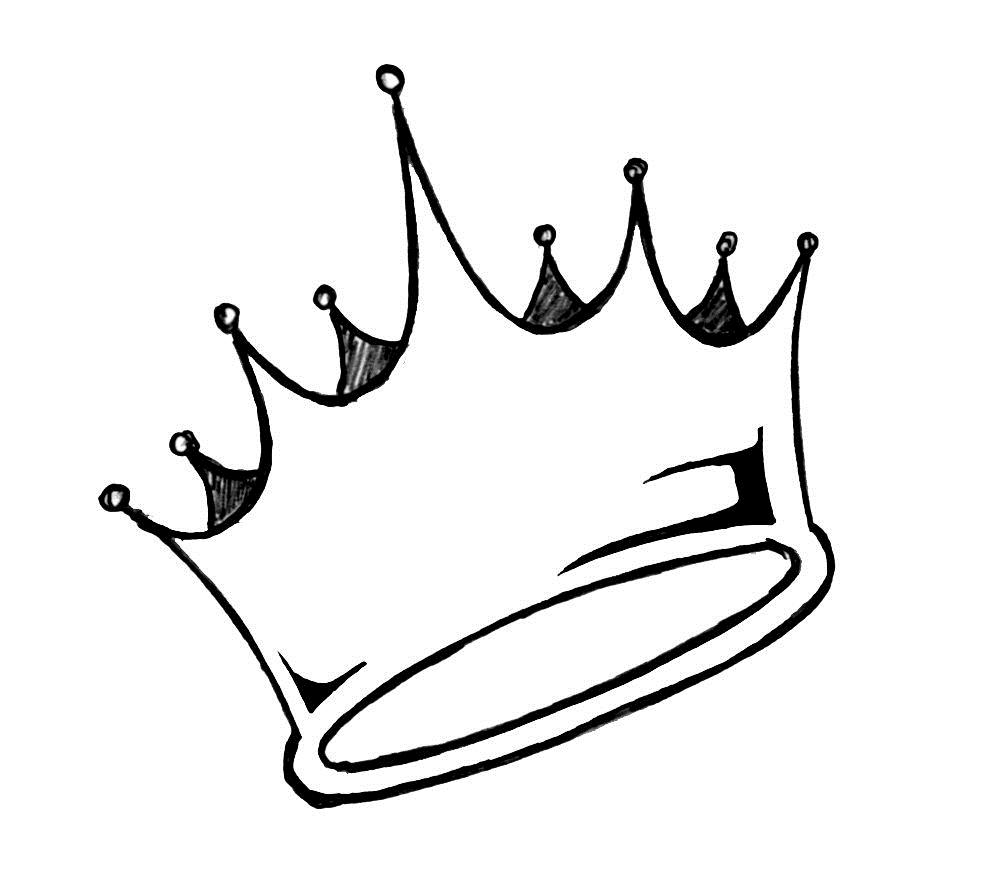Drawn crown Line on Clip Art Clip