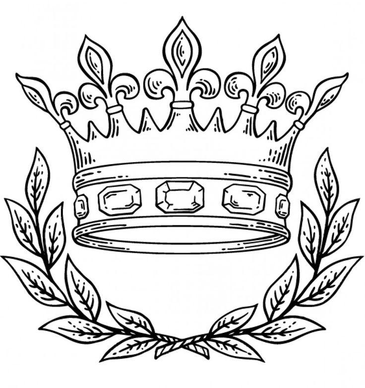 Drawn crown Coloring Crown on Sea4Waterman best