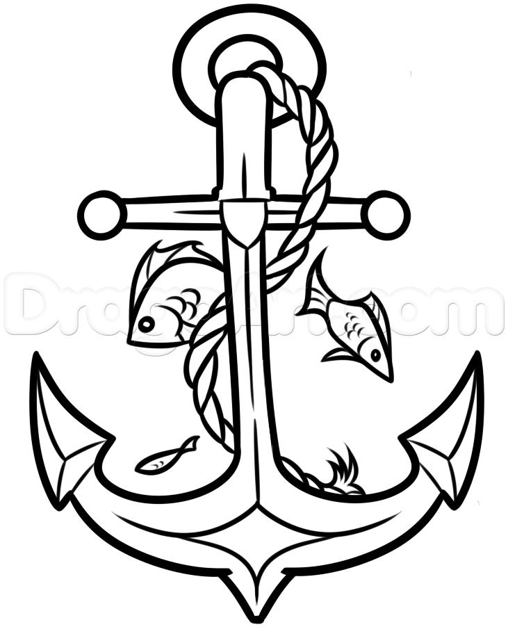 Drawn anchor ancor Crown Kabar by Tattoos Pop