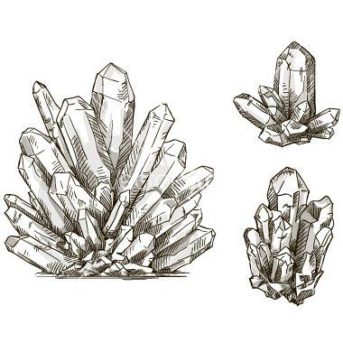 Drawn crystal Set on 25+ kamenuka of