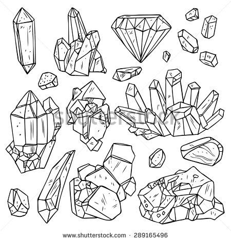 Drawn crystal Google Set Trendy Elements Minerals